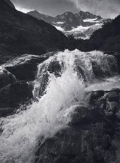 Ansel Adams. 'Waterfall, Northern Cascades, Washington' 1960