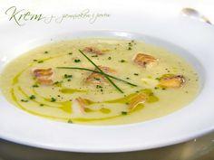 pookcook: Krem z ziemniaków i porów z wędzoną rybą