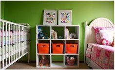 ABC art, plus big kid/baby sharing room