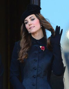 """I love that this is """"news."""" Did you know? Kate Middleton smiled and twirled her hair at a Remembrance Day ceremony Sunday. (Remembrance Day ..."""