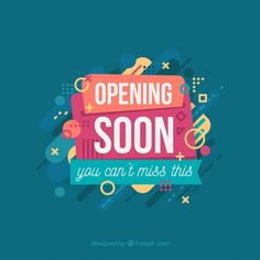 Opening soon background with typography Free Vector Shopping Quotes, Poster Ideas, Logan, Vector Free, Invites, Wedding Invitations, Logo Design, Bb, Stamps