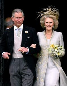 Prince Charles and Camilla Parker-Bowles marry at Windsor Guildhall in 2005.