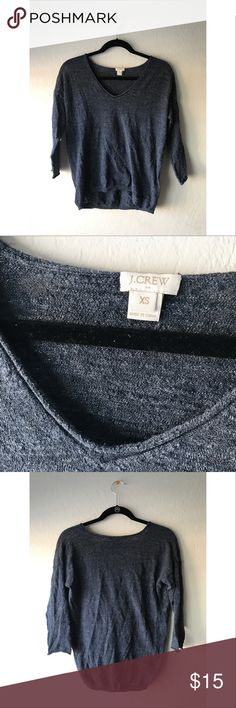 J.Crew Pullover // $15 Cool navy blue pullover • size: XS • fits loose • gently used • sorry for the wrinkles J. Crew Sweaters Crew & Scoop Necks