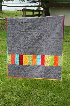 Amos' Triangle quilt - back