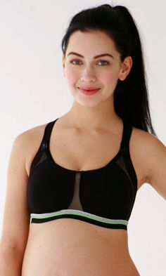 301f755a5bacf Spacer pad cups and breathable mesh make this sports bra a must have for  nursing moms