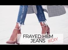 jeans fringy hems for 2019 Diy Shorts, Diy Jeans, Diy Ripped Jeans, Ragged Jeans, Frayed Hem Jeans, Cut Up Jeans, Jeans Style, Distressed Jeans Diy, How To Make Jeans