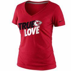 Nike Kansas City Chiefs Ladies True Love Premium T-Shirt - Red