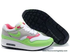 Discounts Nike Air Max 1 White Electric Green Neutral Grey Pink 308866-100 Womens
