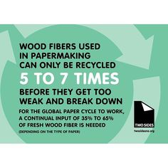 TwoSides North America shares a great infographic that explains why sustainable forestry and recycling are both important to the paper lifecycle.
