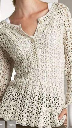 Crochet Cardigan Long Sleeve W - Salvabrani Crochet Vest Pattern, Crochet Jacket, Crochet Cardigan, Crochet Shawl, Knit Crochet, Crochet Patterns, Crochet Tops, Crochet Sweaters, Cute Crochet