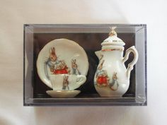 Beatrix Potter Peter Rabbit  Miniature tea set by ApinchOfJoy, $19.50