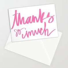 Image of Thanks so much Greeting Card