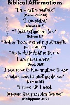 Biblical Affirmations