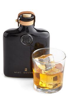 A sleek, compact drinking flask.