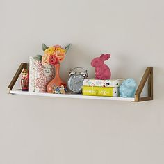 Display books, toys and more in the bedroom or playroom with kids shelves from Crate and Barrel. Wall cubbies also brighten and organize your child's space. White Wall Shelves, Wooden Wall Shelves, Wooden Walls, Floating Shelves, Open Shelves, Entryway Storage, Kids Storage, Storage Ideas, Toy Storage