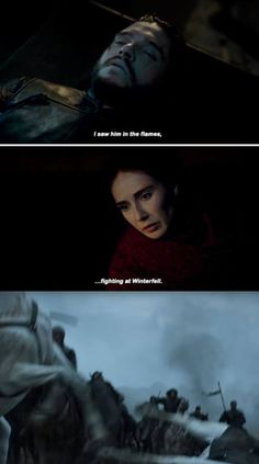 Melisandre and Jon Snow - Home Season 6 Episode 2