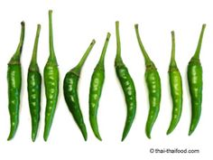 Grüne Thai Chili Thai Chili, Asparagus, Green Beans, Vegetables, Exotic, Fresh, Studs, Vegetable Recipes, Veggies