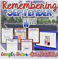 I always struggled with activities on Sept think it's important for students to have an idea of the events of the day, and how it has shaped our country today . So, I created this resource to help students Middle School, Back To School, Remembering September 11th, Social Studies Resources, Blended Learning, Google Drive, 21st Century, Homeschool, Students
