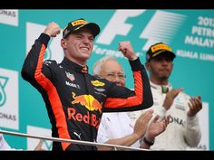 GP F1 Maleisie 1st of October 2017. Max Verstappen wins his second F1 race just a day after celebrating his 20th birthday!!
