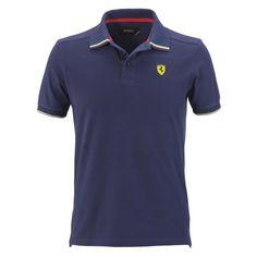 Men's Ferrari Shield Flag Polo Shirt #ferrari #ferraristore #menswear #polo #poloshirt #cavallinorampante #prancinghorse #ss2014 #springsummer #2014springsummer