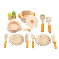 Hape Gourmet Play Set Kitchen Starter Wooden Learning Learning Toy Kid Boy Girl #Hape