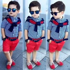 Boy fashion outfitthis are the kinds of fashions i like and i would so defi Toddler Boy Fashion, Cute Kids Fashion, Little Boy Fashion, Toddler Boy Outfits, Toddler Boys, Baby Kids, Cute Baby Boy, Outfits Niños, Kids Outfits