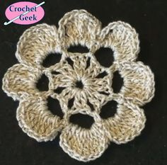 Flower Laurel - Free pattern from Crochet Geek