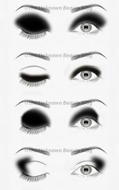 The Simplified Guide to Eyeshadow Application Part 3 - The Black & White   The Unknown Beauty Blog