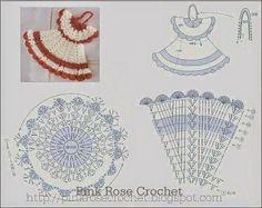 Crochet dress for girl free diagram Crochet Diy, Freeform Crochet, Crochet Diagram, Crochet Chart, Thread Crochet, Crochet Motif, Crochet Flowers, Crochet Patterns, Crochet Doll Dress