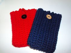 Crochet Cell phone/ Ipod cases by jdfootloose on Etsy, $11.00