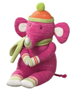 Elephant Sock Animal. my house is going to be  filled with elephants. and cold feet.