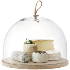 Cheeseboard cover glass dome table setting perfect for dimmer parties and christmas final course