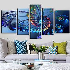 Stretched+Canvas+Print+Art+Abstract+Spining+Set+of+5+-+USD+$+109.99