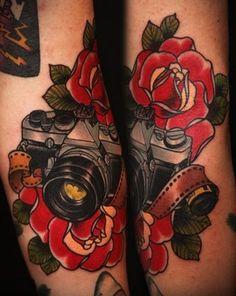 i must get a camera tattoo eventually! Girly Tattoos, Love Tattoos, Beautiful Tattoos, New Tattoos, Tatoos, Sweet Tattoos, Amazing Tattoos, Tatto Ink, 1 Tattoo