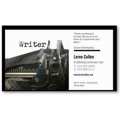 Vintage Artistic Typewriter Writer Business Card | Branding ...