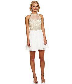 Savannah Nights Beaded Illusion Skirt Dress #Dillards | The Style ...