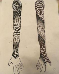 geometric line tattoo Line Tattoos, Black Tattoos, Sleeve Tattoos, Eclipse Tattoo, Geometric Sleeve Tattoo, Geometric Tattoos, Mangas Tattoo, Sacred Geometry Tattoo, Original Tattoos