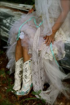 Vintage Hand painted Boots  Shabby Roses VEGAN by amandarosebridal, $75.00