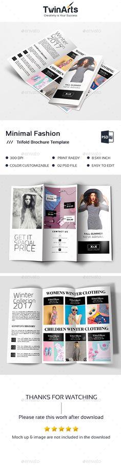 Winter Fashion Trifold Brochure Template PSD