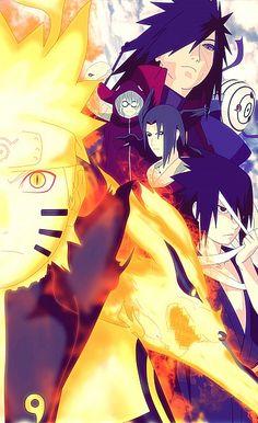 Uzumaki Naruto, Yakushi Kabuto, Uchiha Itachi, Uchiha Obito, Tobi