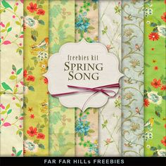 Freebies Backgrounds Kit - Spring Song:Far Far Hill - Free database of digital illustrations and papers Free Digital Scrapbooking, Digital Scrapbook Paper, Digital Papers, Printable Scrapbook Paper, Printable Paper, Digital Paper Freebie, Far Hills, Spring Song, Decoupage