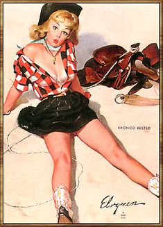 pinup girl by gil elvgren