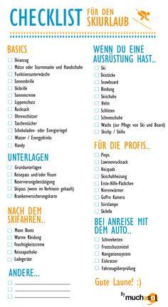 checkliste skiurlaub