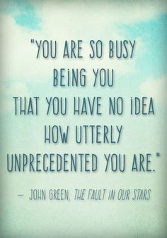 charming life pattern: the fault in our stars - john green - quote