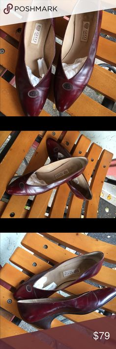 Vintage Gucci shoes Vintage Gucci (need rubber on heel) burgundy Gucci Shoes