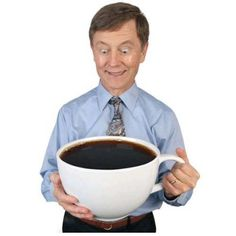 World's Largest Coffee Cup: This gigantic mug will hold 20 cups of coffee! Get it HERE: http://www.thegiftsformen.com/worlds-largest-coffee-cup.php