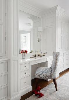 Trendy bedroom desk ideas make up built ins ideas Master Bedroom Closet, Bedroom Wardrobe, Gray Bedroom, Built In Wardrobe, Trendy Bedroom, Bedroom Desk, Mirror Bedroom, Master Bedrooms, Wardrobe Ideas