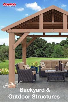 Expand your outdoor living space with the 14 x 12 Pavilion with Aluminum Roof by Yardistry. The Pavilion adds character to any area, creating the perfect setting for all your outdoor entertainment needs. Shop for more backyard decorating ideas at Costco.com.