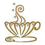 Fancy Tea Time - Free Machine Embroidery Designs from hatched in Africa