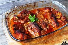 pieczona karkówka Lamb Recipes, Crockpot Recipes, Cooking Recipes, Brunch, Tasty, Yummy Food, Polish Recipes, Tandoori Chicken, Recipies